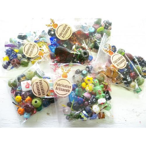 Sachet de perles en verre