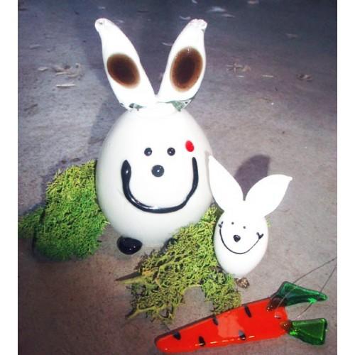 Gros lapin blanc presse-papier